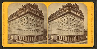 The Palmer House Hilton - Stereoscopic view of the first Palmer House