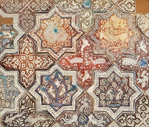 Panneau en carreaux de céramique (musée d'art islamique, Berlin) (11600565555)