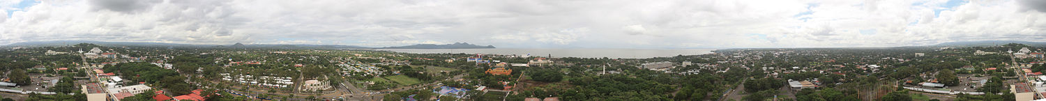 Panoramic view of Managua.