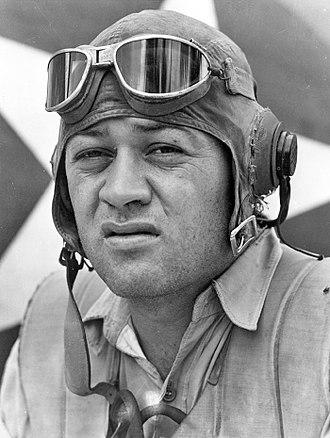 "Pappy Boyington - Major Gregory ""Pappy"" Boyington during World War II"
