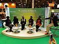 Paris, Salon du Livre 2015 (12) cinq des auteures congolaises du Singe de sable.JPG
