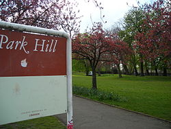 Park Hill Recreation Ground, an example of an urban park in Croydon