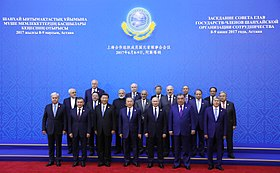 Participants in the SCO Council of Heads of State meeting in expanded format, 2017 (2).jpg