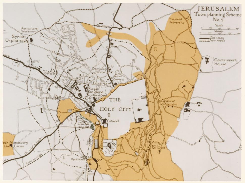 Patrick Geddes, 1919, Jerusalem - Town Planning Scheme No 2