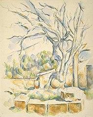 Le pistachier dans la cour de Château Noir, II