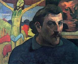 Paul Gauguin: Portrait of the Artist with the Yellow Christ