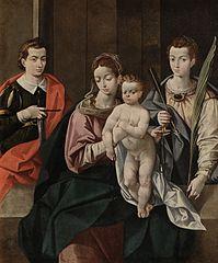 Virgen del Rosario con San Acisclo y Santa Victoria