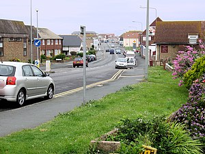 Peacehaven - The A259 running through the town
