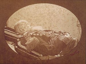 1891 in Brazil - Pedro II in his deathbed, 6 December 1891