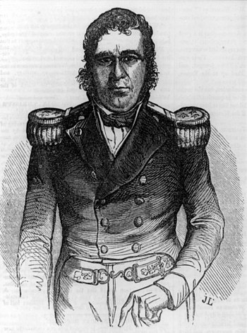 General Pedro Santana had a strong strain of negro and also of Indian blood. In the Dominican Republic, the mulatto population absorbed remnants of the Taino Amerindians historically present in that country. Pedro Santana cph.3a03390.jpg