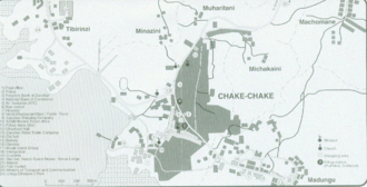 Chake-Chake - City map of Chake-Chake (Pemba)