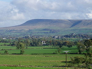 Pendle Hill - Pendle Hill from the Ribble Valley