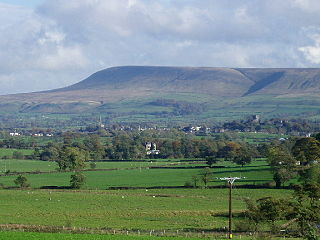 Pendle Hill mountain in the United Kingdom