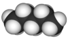 Spacefill model of pentane