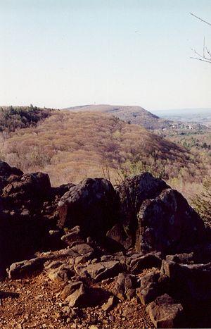 Talcott Mountain - Talcott Mountain ridgeline from The Pinnacle in Penwood State Park