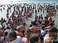 People bathing in the Sea at Rameswaram.JPG