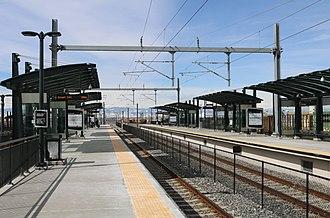 Peoria station - The A-line platforms