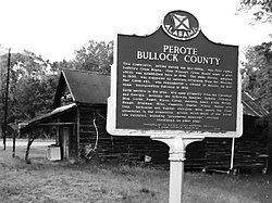 The Historic Marker at Perote