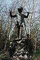 Peter Pan statue in Kensington Gardens in the City of Westminster in London, spring 2013 (14).JPG
