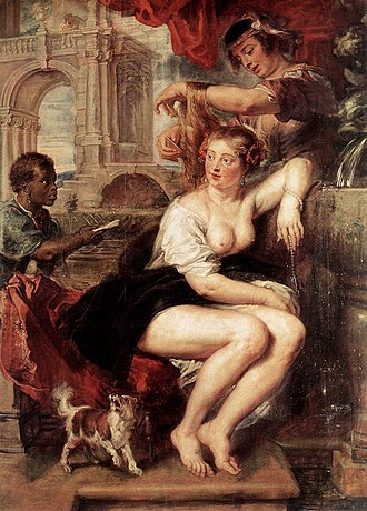 Iconclass - Image: Peter Paul Rubens Bathsheba at the Fountain WGA20270