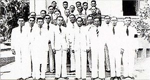 Cabinet of Thailand - First Cabinet of Plaek Pibulsonggram or the Ninth Cabinet of Siam, active from 16 December 1938 – 7 March 1942.