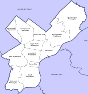 Philadelphia Township Map List of Philadelphia neighborhoods   Wikipedia