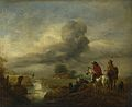 Philips Wouwerman - Two Vedettes on the Watch by a Stream (1650s).jpg