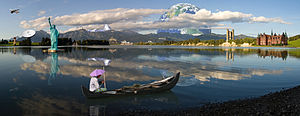 Photomontage - Image: Photomontage (Forggensee Panorama)