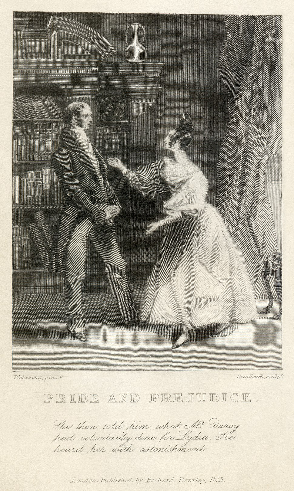 Pickering - Greatbatch - Jane Austen - Pride and Prejudice - She then told him what Mr. Darcy had voluntarily done for Lydia