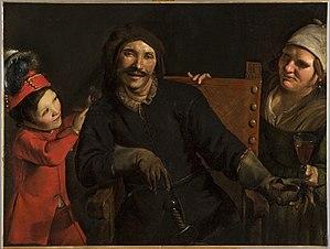 Scaramouche - Portrait of Tiberio Fiorilli as Scaramouche by Pietro Paolini