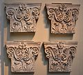 Pilaster capitals from the Pantheon, decorative column tops from inside the Pantheon, British Museum (14975636586).jpg