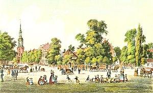 St. Georg, Hamburg - The suburb St. Georg in 1855