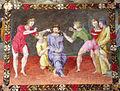 Pittore tosco-emiliano, misteri del rosario, 1550-1600 circa 09 cristo deriso.JPG