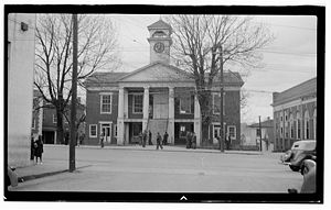 Chatham, Virginia - The Pittsylvania County Courthouse is one of eight sites in Chatham listed on the National Register of Historic Places.