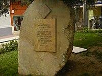 Placa a Xàtiva dedicada als maulets per la seua defensa de la ciutat en 1707.