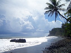 Tahiti is famous for black beaches.