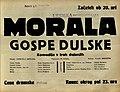 Plakat za predstavo Morala gospe Dulske v Narodnem gledališču v Mariboru 11. januarja 1930.jpg