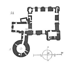 Château de Falaise - Image: Plan.chateau.Falaise .2