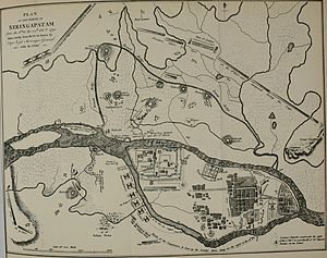 Siege of Seringapatam (1792) - Plan of the siege
