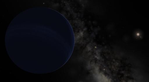 Planet Nine in Celestia