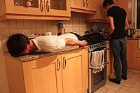 Planking in a kitchen.jpg