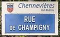 Plaque Rue Champigny - Chennevières-sur-Marne (FR94) - 2021-05-05 - 1.jpg