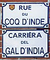 Plaques - rue du Coq d'Inde (Toulouse).jpg