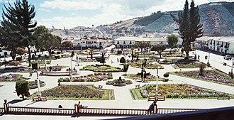 Huamachuco - The square Plaza Mayor
