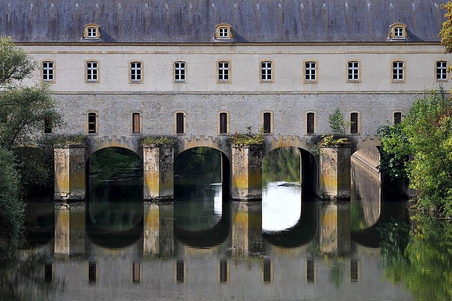 Pont de Cormontaigne, Pont-écluse Sud, one of the two historical Ponts sur le canal des fortifications in Thionville; Moselle, France. Architect: Louis de Cormontaigne