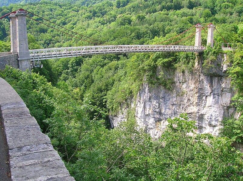 Abîme bridge between Cusy and Gruffy (Haute-Savoie)
