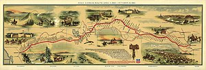 Central Overland California and Pikes Peak Express Company - Image: Pony Express Map William Henry Jackson