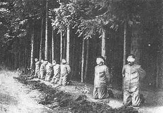 Execution by firing squad - Execution by Austria-Hungary of the Czech leaders of a mutiny against their superior officers, 1918.