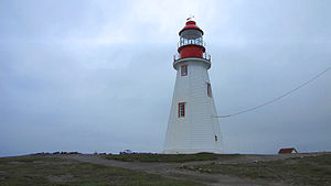 English: Port aux Choix lighthouse, Newfoundla...