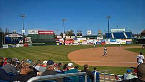Portland Sea Dogs - The Sea Dogs hosting Hartford Yard Goats during the 2016 season.